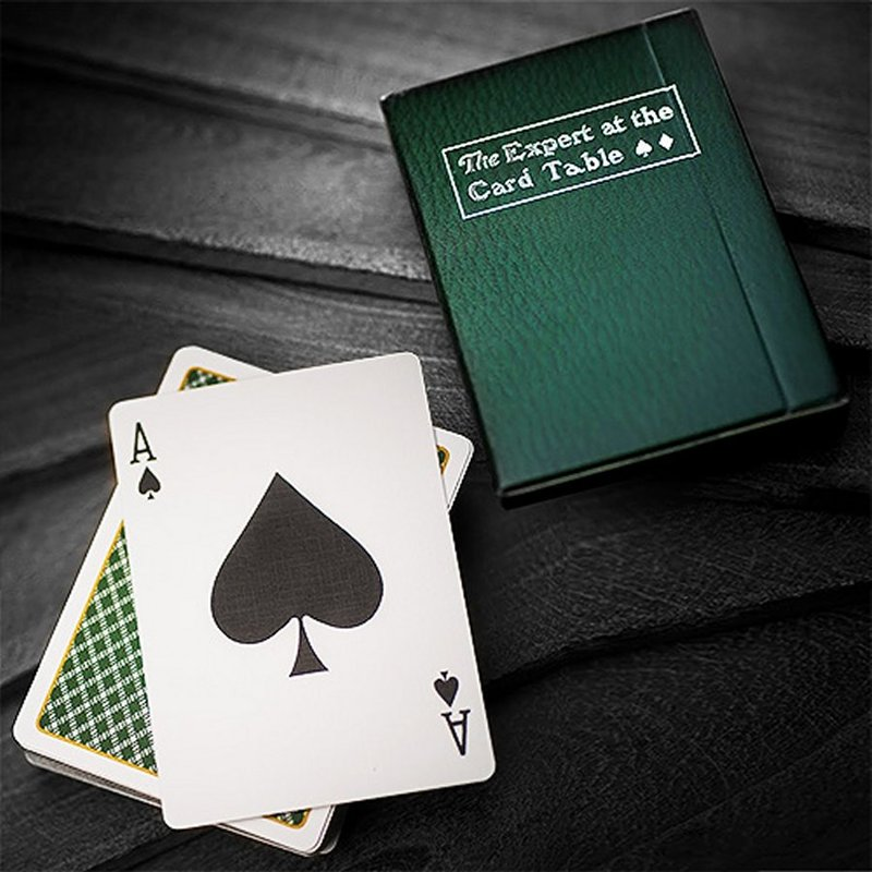 Home > Latest Playing Cards Collection > The expert at the card table green playing  cards deck